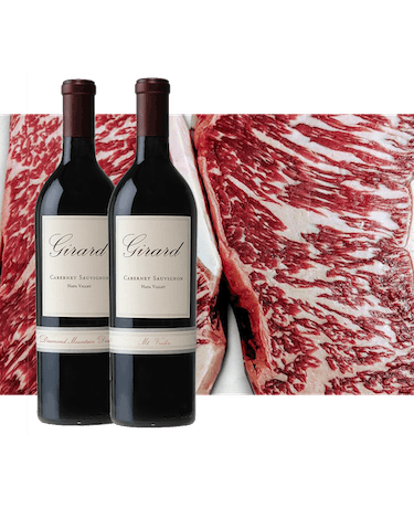 Girard + Holy Grail Cabernet Sauvignon and American-raised Wagyu