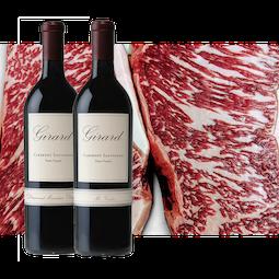 Girard + Holy Grail Cabernet Sauvignon and American-raised Wagyu